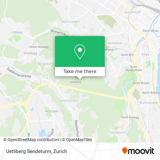 Uetliberg Sendeturm map