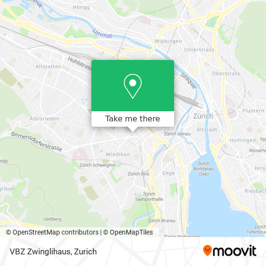 VBZ Zwinglihaus map