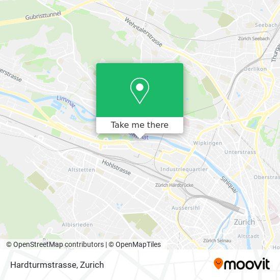 Hardturmstrasse map