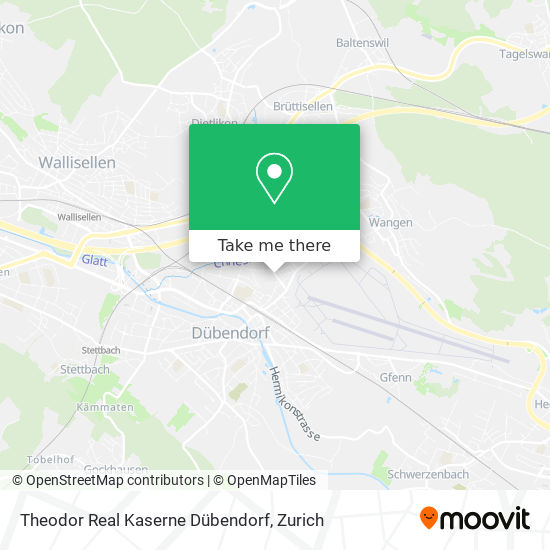 Theodor Real Kaserne Dübendorf map