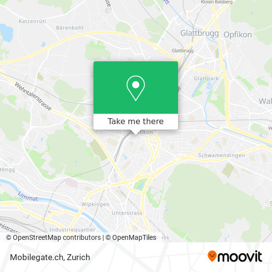 Mobilegate.ch map