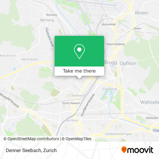 Denner Seebach map
