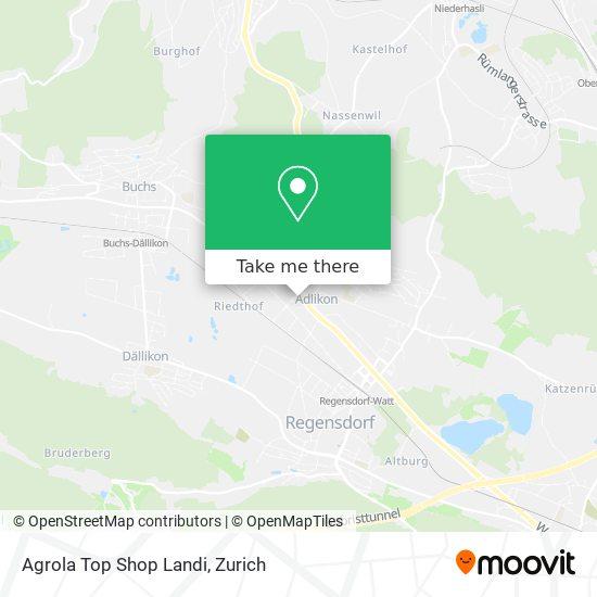 Agrola Top Shop Landi map