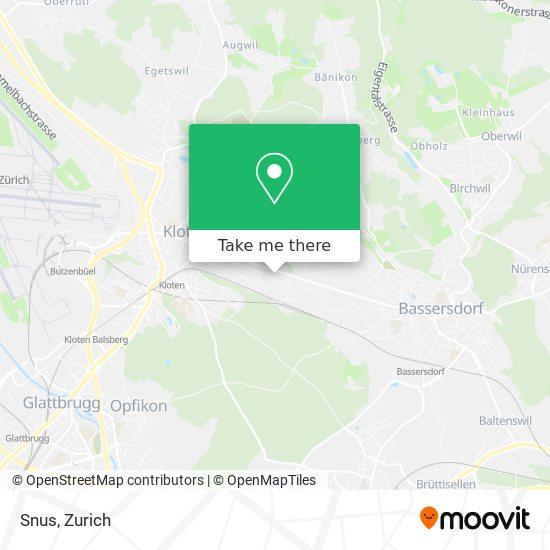 Snus map