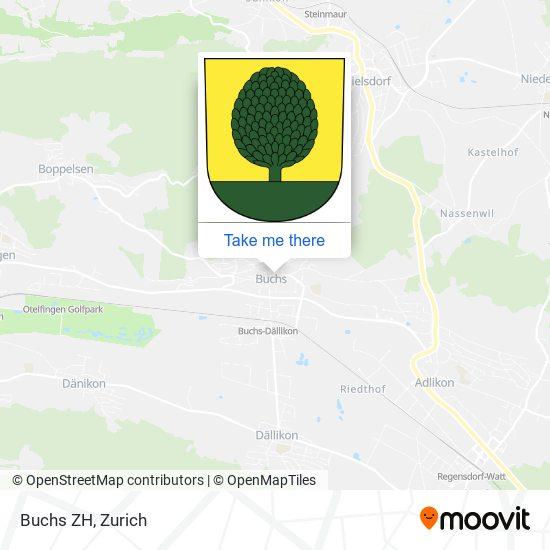 Buchs ZH map
