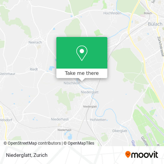 Niederglatt map
