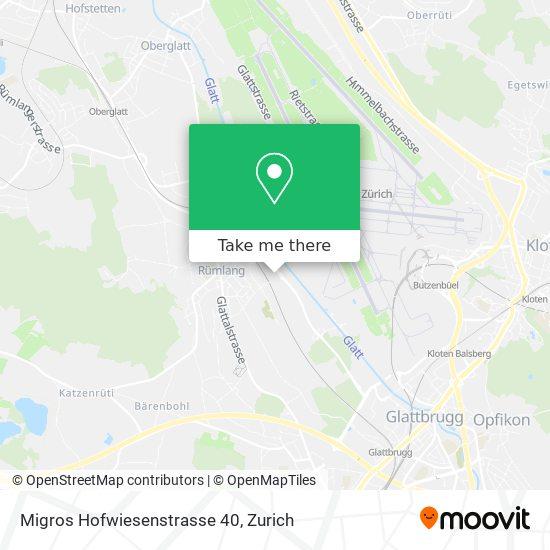 Migros Hofwiesenstrasse 40 map