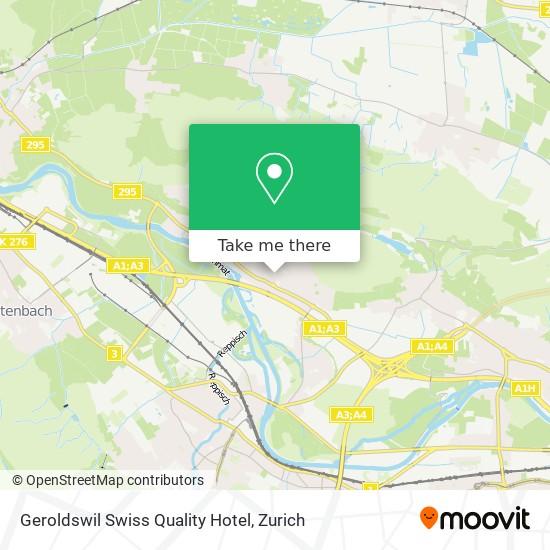 Geroldswil Swiss Quality Hotel map
