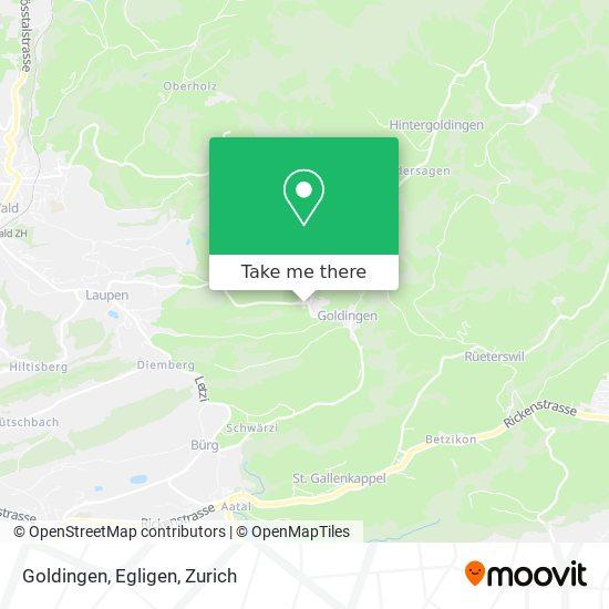 Goldingen, Egligen map
