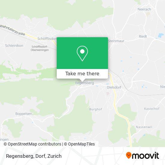 Regensberg, Dorf map
