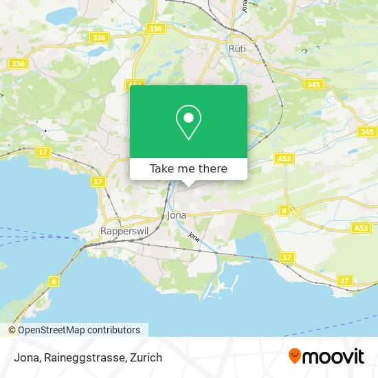 Jona, Raineggstrasse map
