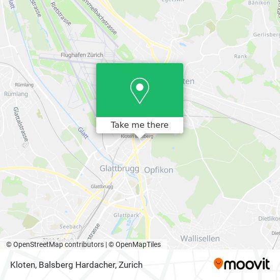 Kloten, Balsberg Hardacher map