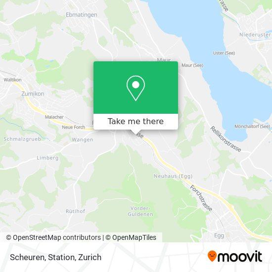 Scheuren, Station map
