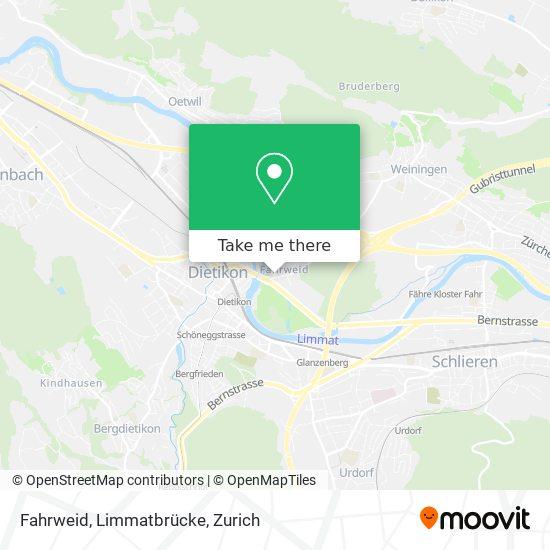 Fahrweid, Limmatbrücke map
