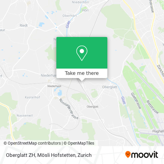 Oberglatt ZH, Mösli Hofstetten map