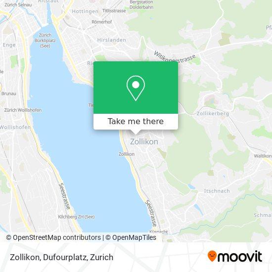 Zollikon, Dufourplatz map