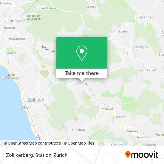 Zollikerberg, Station map