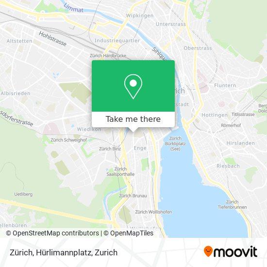 Zürich, Hürlimannplatz map