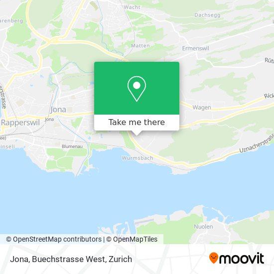 Jona, Buechstrasse West map