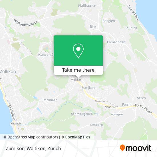 Zumikon, Waltikon map