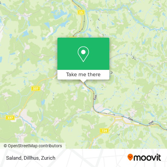 Saland, Dillhus map
