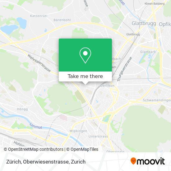 Zürich, Oberwiesenstrasse map
