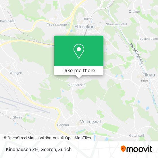 Kindhausen ZH, Geeren map