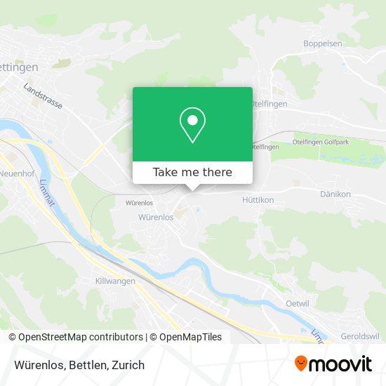 Würenlos, Bettlen map