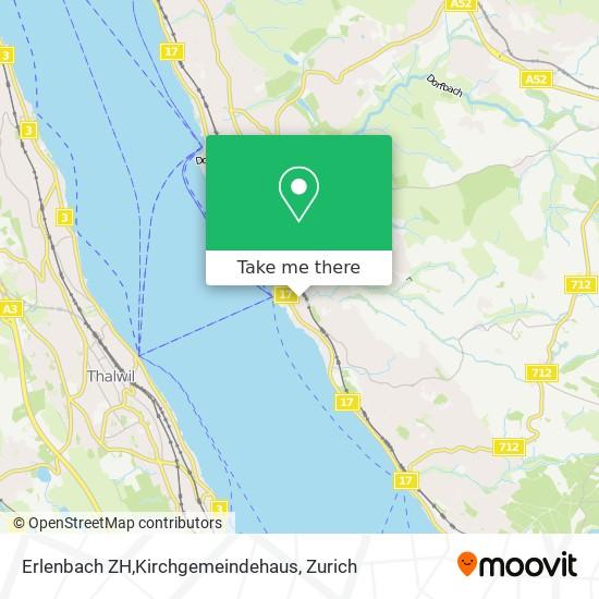 Erlenbach ZH,Kirchgemeindehaus map