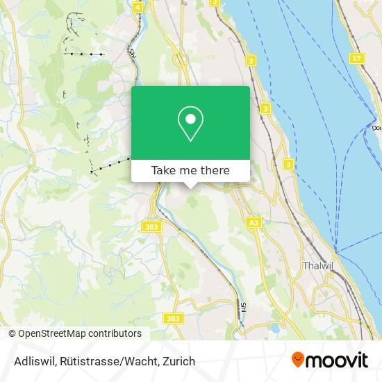 Adliswil, Rütistrasse/Wacht map
