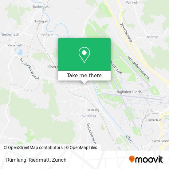 Rümlang, Riedmatt map