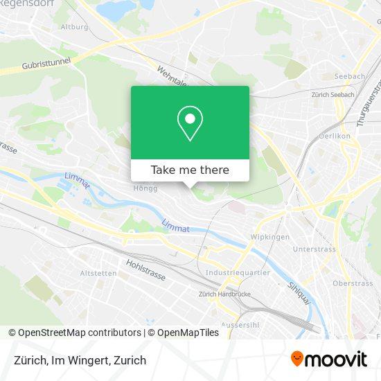 Zürich, Im Wingert map