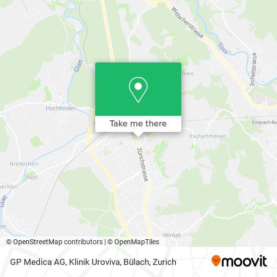 GP Medica AG, Klinik Uroviva, Bülach map
