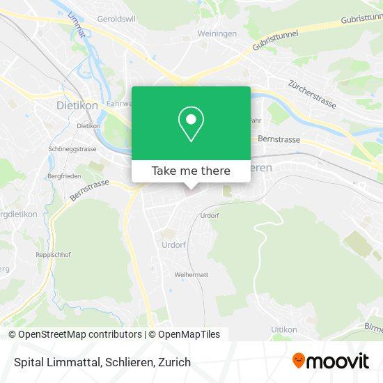 Spital Limmattal, Schlieren map