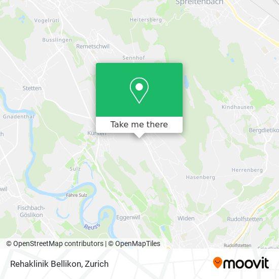 Rehaklinik Bellikon map