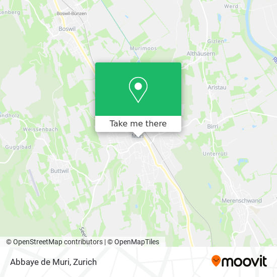 Abbaye de Muri map