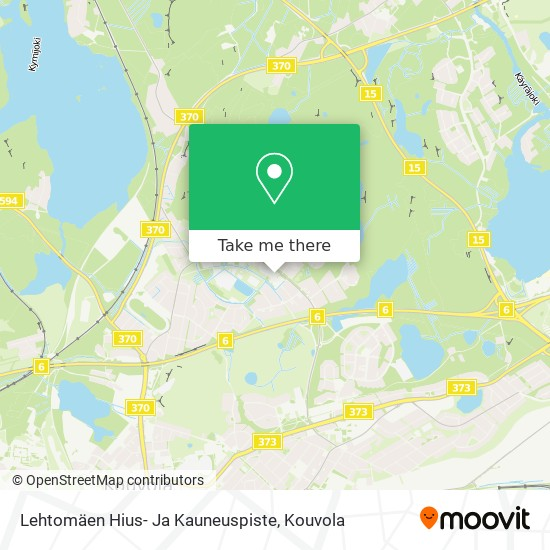 Lehtomäen Hius- Ja Kauneuspiste karta