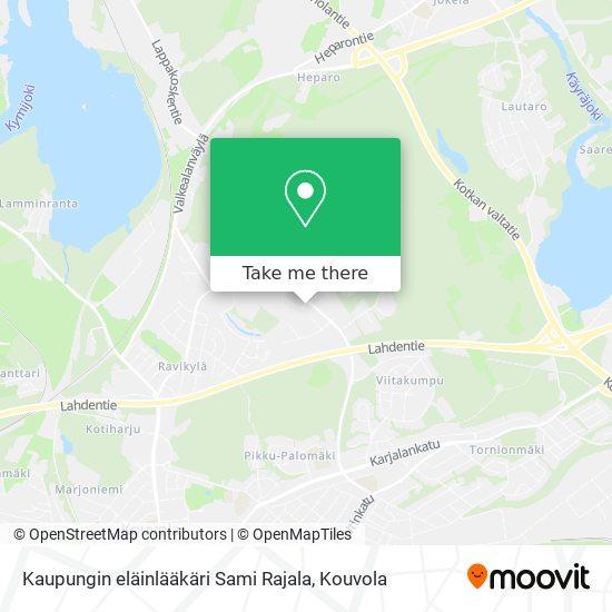 Kaupungin eläinlääkäri Sami Rajala karta