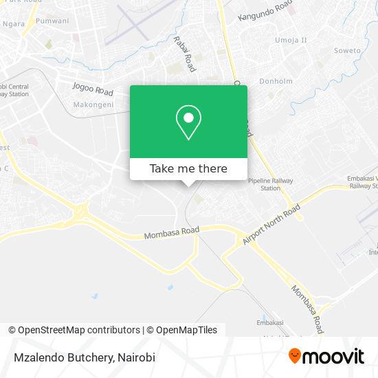 Mzalendo Butchery map