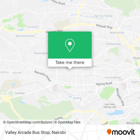Valley Arcade Bus Stop map