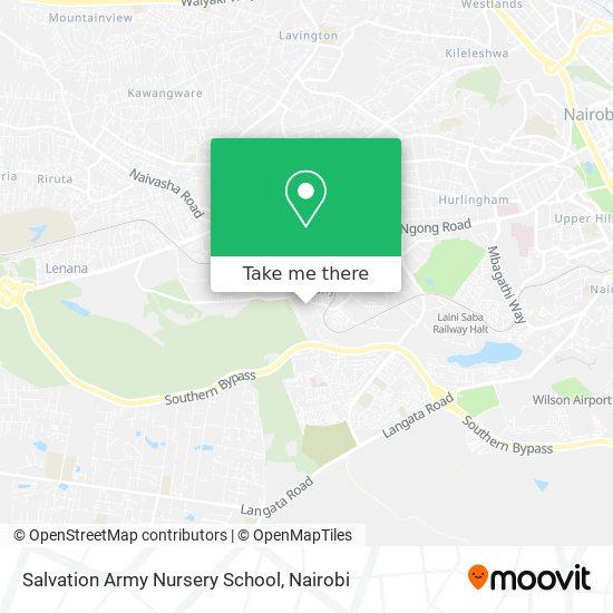 Kibera Salvation Army School map