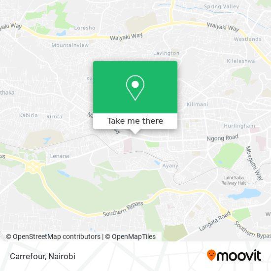 Nakumatt Junction map