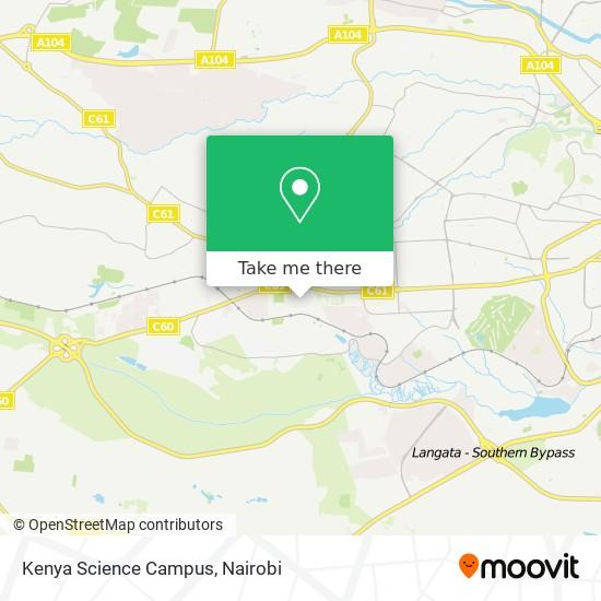 Kenya Science Campus map