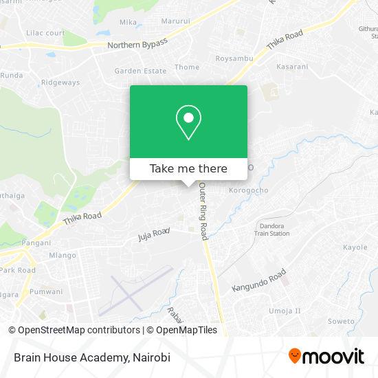 Brain House Academy map