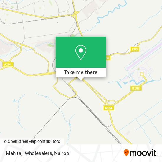 Mahitaji Wholesalers map