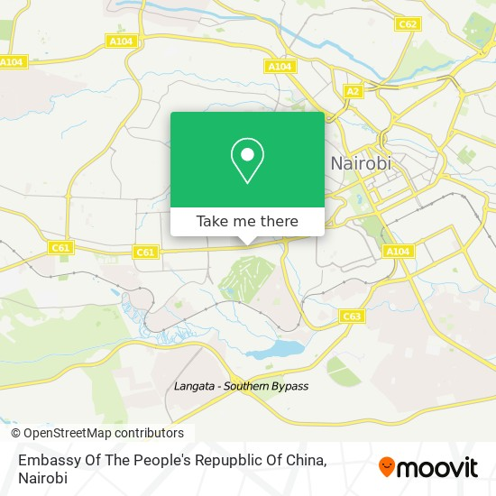 Embassy Of The People's Repupblic Of China map