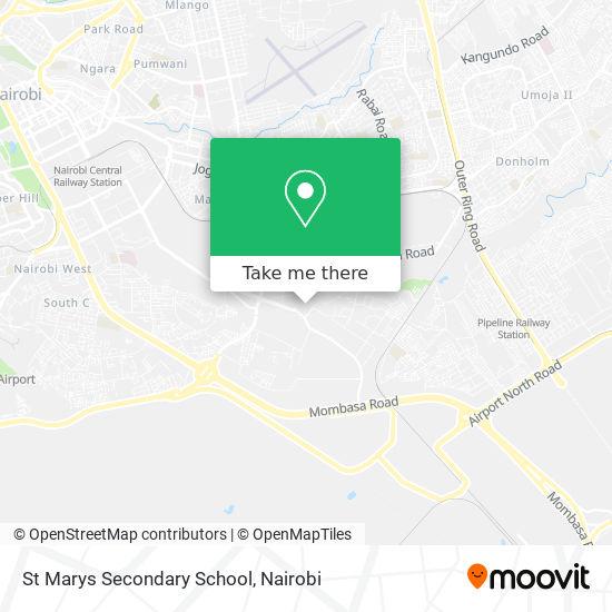 St Marys Secondary School map