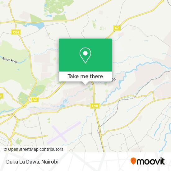 Duka La Dawa map