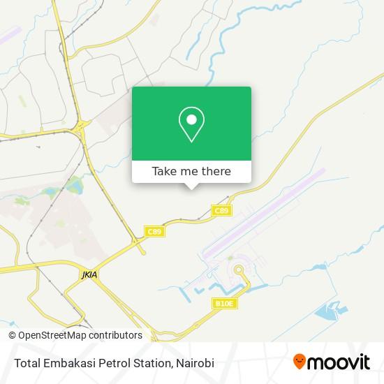 Total Embakasi Petrol Station map