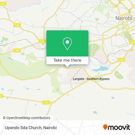 Upendo Sda Church map